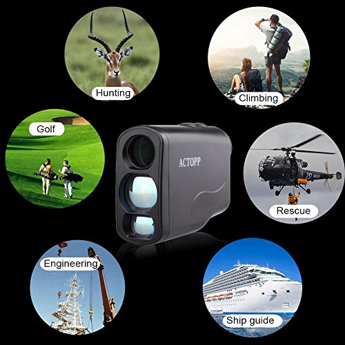 AcTopp-Digital-Golf-Rangefinder-Laser-Hunting-Range-Finder-Scope-with-FogHorizontal-DistanceHeightScanSpeed-Measurement-FunctionPerfect-for-Golf-Hunting-and-Racing