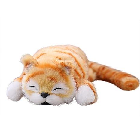 Peluches Gato Electrico 33 cm Simulación Divertida Rollo de Gato Eléctrico Animales de Peluche Juguetes de