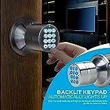 TurboLock Keyless Electronic Keypad Entry Door Lock Smart Knob Kit with Automatic Locking, Battery Backup & Easy Installation