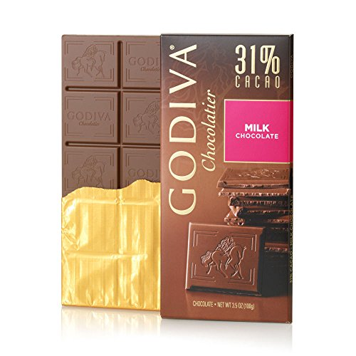 031290094141 - Godiva Milk Chocolate Bar, 3.5-Ounces (Pack of 5) carousel main 3