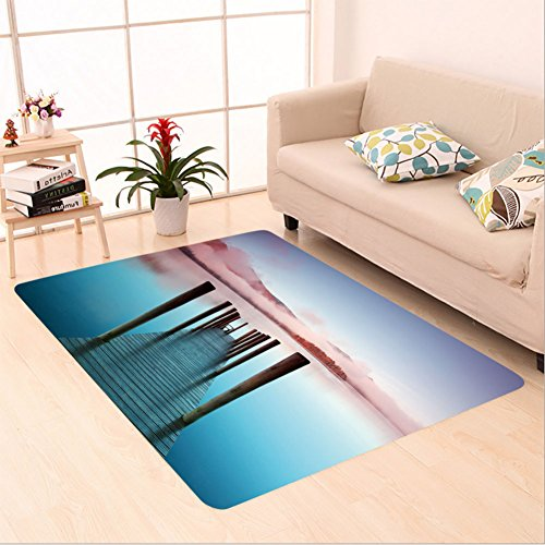 Sophiehome skid Slip rubber back antibacterial  Area Rug ashness pier the pier is a landing stage on the banks of derwentwater cumbria in the english 89361619 Home Decorative by sophiehome