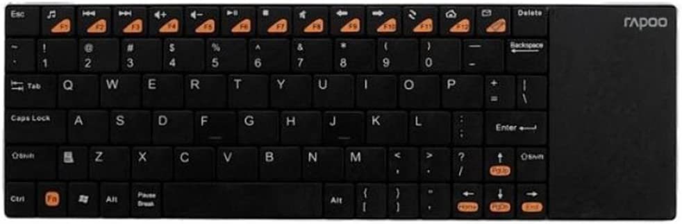 Rapoo E2700 2,4 gHz ultra-slim Mini teclado inalámbrico Touchpad para Multimedia negro