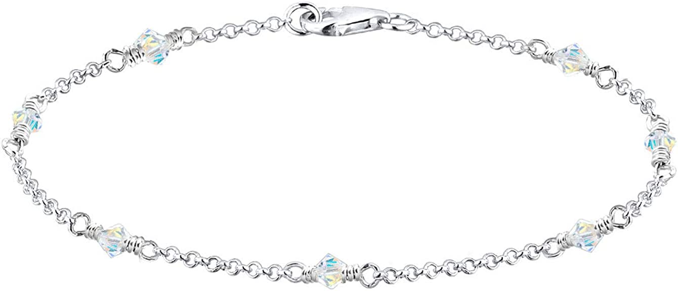 Elli Armband Damen Filigran Elegant mit Swarovski® Kristalle in 925 Sterling Silber