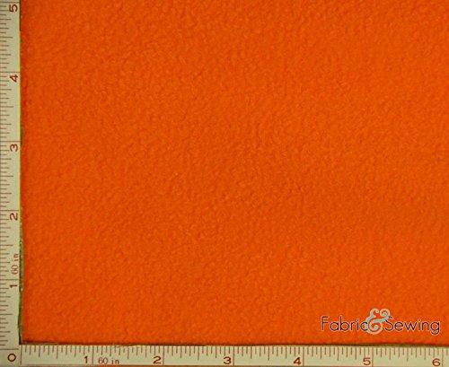 Neon Orange Anti-Pill Polar Fleece Fabric Polyester 13 Oz 58-60