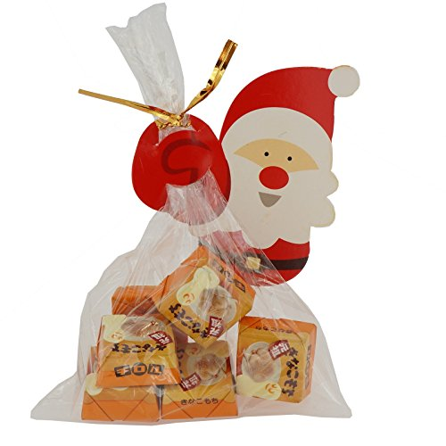 (Santa Claus Christmas Tags with cello Treat bags for Cookie Biscuits Candy Cake Baking Packaging, Pack of 48)
