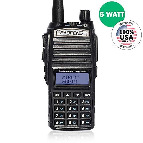 Baofeng Radio UV-82 MK3 2019 5W 2800 mAh Li-ion Battery Mirkit Edition and Lanyard Mirkit Ham Radio Operator, Walkie Talkies Dual Band Ham Two Way Radios USA Warranty