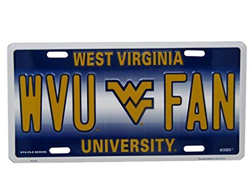 웨스트 버지니아 등산가 WVU 팬 축구 6 x 12 알루미늄 번호판 태그..