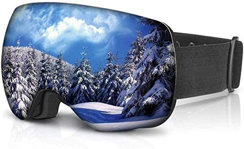 YUNSHANGAUTO Ski Goggles Anti Fog Snow Goggles Double Layer Spherical Lens Snowboard Goggles for Men Women Youth 100% UV Protection