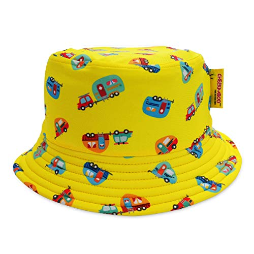 Toddler Kids Sun Protection Reversible Bucket Hat for Boys and Girls