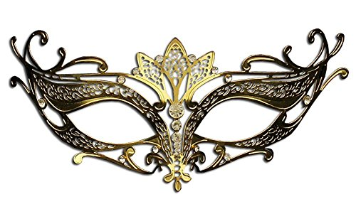 Laser Cut Venetian Masquerade Party Mask Costume Mask (Gold)
