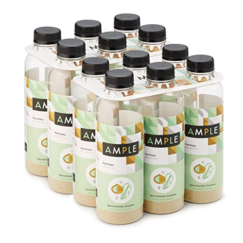 Ample - Meal Replacement Shake in a Bottle, (Pack of 12) Meals, Large 600 Calories, Made with Natural Real Food Ingredients