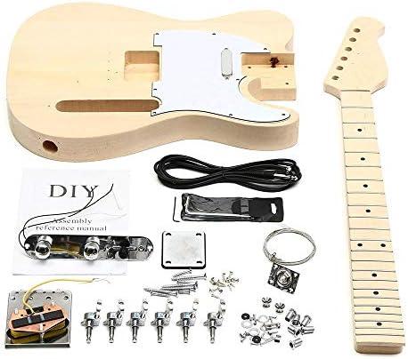 ギター DIYマホガニーボディエレキギターは完璧なカッティング、パッケージコンバインの耐久性を指板ローズウッド ギター練習に最適 (Color : As shown, Size : 40x32cm)