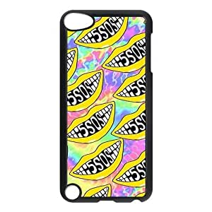 5SOS Snap-on Hard Back Case for iPod Touch 5 5th Gen,Waterproof Hard Plastic Cover Phone Case For Ipod Touch 5,5SOS Case Cover Protector for iPod Touch 5/5th Generation (Black/White)