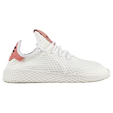 adidas x Pharrell Williams Big Kids Tennis HU J White Footwear White raw  Pink Size 7.0 US