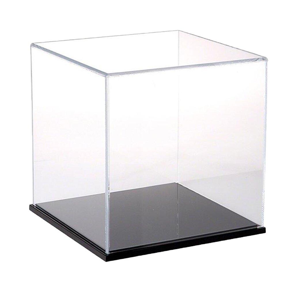 25 x 25 x 25cm FLAMEER Caja De Exhibici/ón De Juguete De Acr/ílico Claro Moderno Caja De Herramientas A Prueba De Polvo Herramienta 13x13x23cm