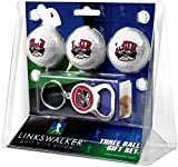 LinksWalker NCAA Las Vegas Rebels - 3 Ball Gift Pack with Key Chain Bottle Opener