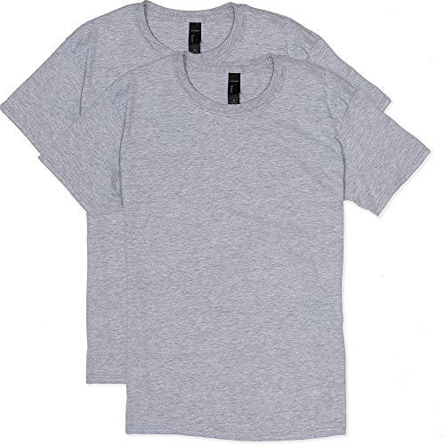 (Hanes Men's 2 Pack X-Temp Performance T-Shirt, Light Steel, MEDIUM)