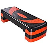 AW 30'' Fitness Aerobic Stepper 4''-6''-8'' Adjustable Stepper Platform w/ 4 Risers Exercise Fitness Home