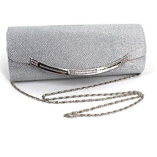 Handbag Women's Purse Sequin Evening Clutch Bag Glitter Envelope Party Bling Prom Silver Meliya dICwgqC