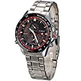 Luxury CURREN 8149 Stainless Steel Waterproof Sport Watch Calendar Display - Black