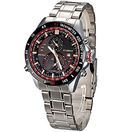 Luxury CURREN 8149 Stainless Steel Waterproof Sport Watch Calendar Display - Black by fongshop