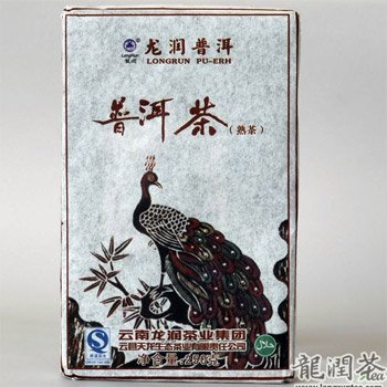 Yunnan Longrun Pu-erh Tea Brick -Peacock (Year 2007,fermented, 250g)(8.81oz)