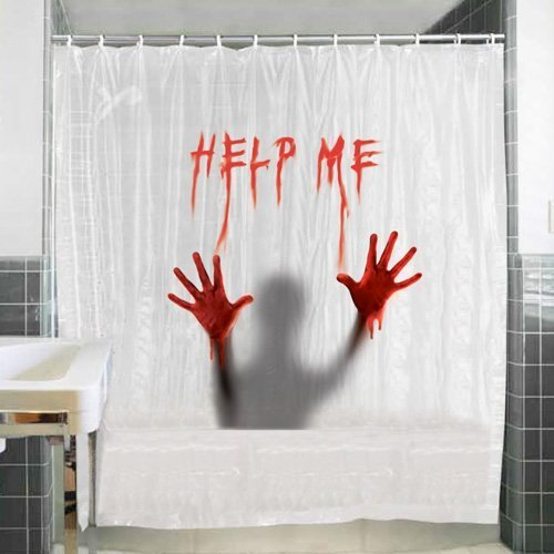 Help Me Shower Curtain by Horror-Shop ()