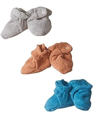 Unisex-Baby Newborn Cozie Fleece 3 Piece Baby Bootie Gift Set