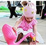 Huasen Child Plastic Pink Flamingo Watering Can Gardening Water Sprayer