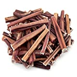 GigaBite by Best Pet Supplies - USDA & FDA Certified Free Range Grass Fed Odor-Free Plain Beef Pizzle Bully Sticks, Healthy Dental Dog Chew /w No Additive 100% ALL Natural - Premium Select, 6 inch, 50 Pc/Pack