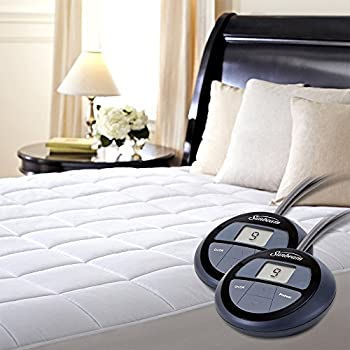 Amazon Com Sunbeam Quilted Heated Mattress Pad With Dual