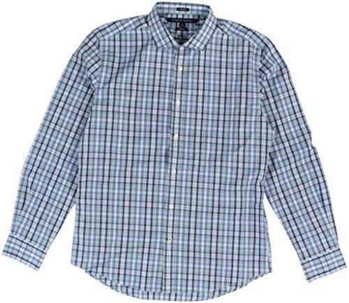 UPC 646130014908, Tommy Hilfiger Men's Non Iron Tumbleweed Plaid Custom-Fit Shirt XX-Large Yucca