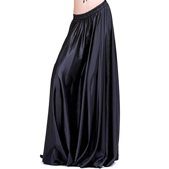 buy matching in colour enjoy cheap price Backgarden 90cm Belly Dance Satin Long Dress Elastic Waistband Design Great  Stage Effect