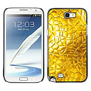 TopCaseStore / la caja del caucho duro de la cubierta de protección de la piel - Abstract Glass Sun Window Bright - Samsung Galaxy Note 2 N7100