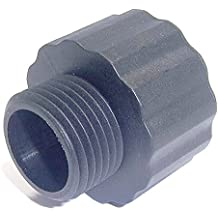 """WKUP F003, Nylon Pipe Fitting, Garden Hose Adapter, Pipe Thread: 1"""" NPT Female x 3/4"""" GHT Male (pack of 2)"""