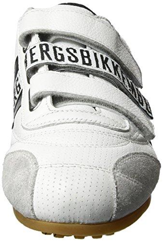 Bikkembergs Kvinna Velcro Logo Gymnastiksko Bke106681 Vit / Svart 37 (oss 7) B - Mediet
