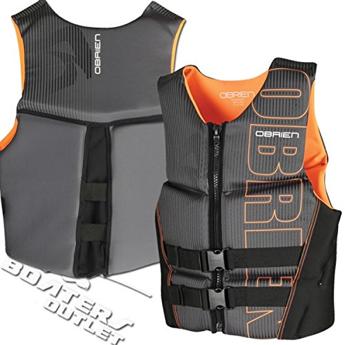 O'Brien Men's Flex V-Back Neoprene Life Vest, Orange, Large
