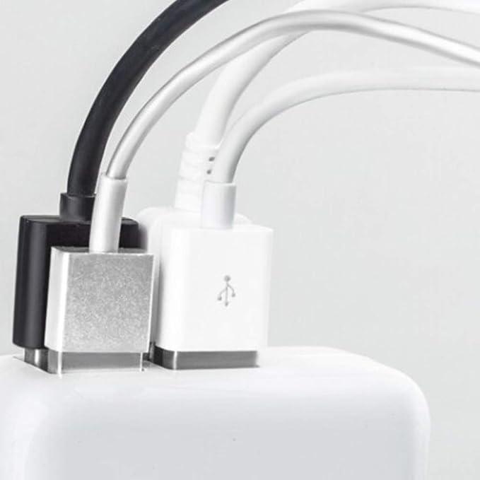 AzuNaisi Cargador USB de 2 Puertos Cargador de Pared Cargador ...
