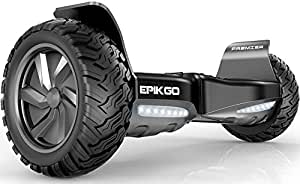 EPIKGO Premier Series Electrical Self Balance Board/Balancing Scooter With All-Weather Tire Hover Through Tough Road Condition [Space Grey, Premier Series, Model: EL-ES03R]