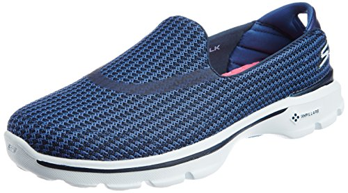Skechers Performance Donna Andare A Piedi 3 Slip-on Walking Navy Blu / Blu
