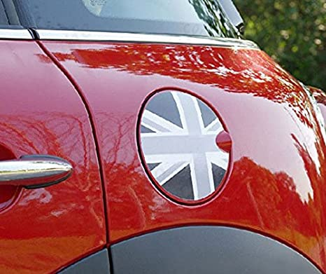 1x Union Jack UK Flag Pattern Vinyl Decal Sticker  For Mini Cooper Gas Cap Cover