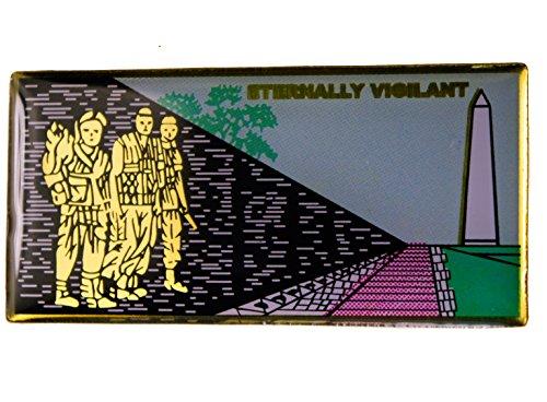 (The Wall Vietnam Veterans Memorial Eternally Vigilant Hat or Lapel Pin)