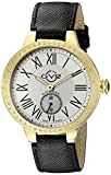 GV2 by Gevril Astor Womens Diamond Swiss Quartz Black Leather Strap Watch, (Model: 9107)