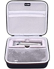 LTGEM EVA Hard Case for Wahl Clipper Stainless Steel Lithium Ion Plus Beard Trimmers Hair Clippers Shavers 9818 - Travel Protective Carrying Storage Bag