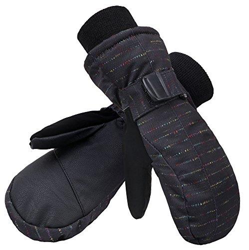 Denovit Kids Boys&Girls Waterproof Ski Snowboard Winter Mitten Gloves