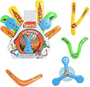 Sports Flying Aero Discs, Boomerangs - Sports Game Sets for Boys Girls and Adults,Silicone Frisbee (A-Irregula