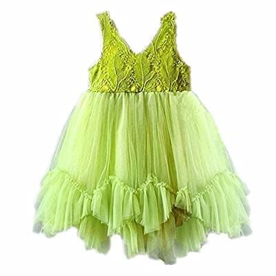 Lace Flower Girl Dress Toddler Girl Tulle Green Dresses Birthday Wedding Party Clothes