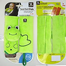Baby Child Stroller Car Seat Safety Belt Strap Cover Pad Cushion Shoulder Holder (Green Frog)