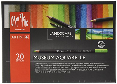 Caran Dache Museum Aquarelle Pencil Sets Landscape Set Of 20 Colours  3510 420