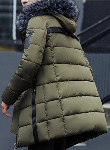 pelliccia Outwear Con Eco Cappuccio Puffer Patchwork Di 1 Mens Inverno Oggi uk qFvgYg
